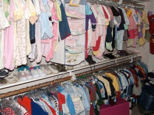 Baby clothes racks